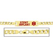 Women s Stent Implant Curb Link Medical ID Bracelet