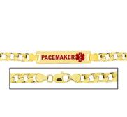 Men s Pacemaker Curb Link Medical ID Bracelet