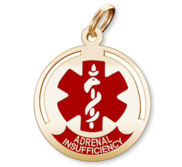 Round Adrenal Insufficiency Charm or Pendant