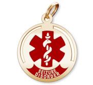 Round Seizure Disorder Charm or Pendant