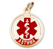 Round Asthma Charm or Pendant
