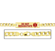 Women s Do Not Resuscitate Curb Link  Medical ID Bracelet