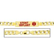 Men s Stent Implant Curb Link Medical ID Bracelet