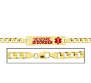 Women s Seizure Disorder Curb Link Medical ID Bracelet