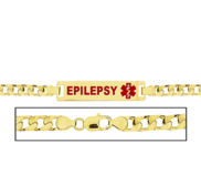 Women s Epilepsy Curb Link Medical ID Bracelet