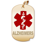 Dog Tag Alzheimers Charm or Pendant