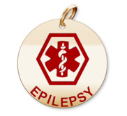 Medical Round Epilepsy Charm or Pendant