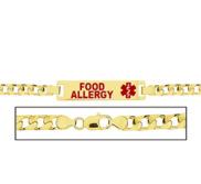 Women s Food Allergies Curb Link  Medical ID Bracelet
