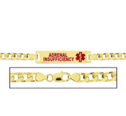Women s Adrenal Insufficiency Curb Link Medical ID Bracelet