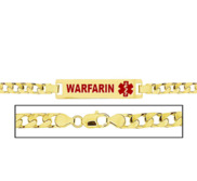 Women s Warfarin Curb Link Medical ID Bracelet