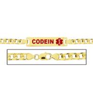 Women s Codeine Curb Link Medical ID Bracelet