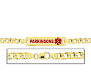 Women s Parikinson s Curb Link  Medical ID Bracelet
