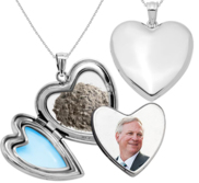 High Polished Cremation   Hair Photo Locket