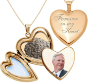 Forever in my Heart  Cremation   Hair Photo Locket
