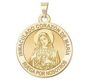 Corazon Inmaculado de Maria Medalla religiosa redonda