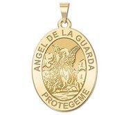 Angel De La Guarda Oval Religious Medal   EXCLUSIVE