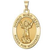 Divino Nino Jesus Oval Religious Medal