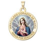 Corazon Inmaculado de Maria Medalla religiosa redonda en color