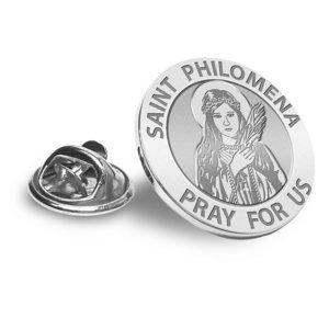 Saint Philomena Religious Brooch  Lapel Pin   EXCLUSIVE