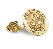 Saint Joan of Arc Religious Brooch  Lapel Pin   EXCLUSIVE