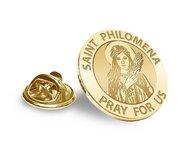 Saint Philomena Religious Brooch  Lapel Pin   EXCLUSIVE