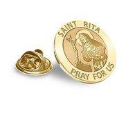 Saint Rita Religious Brooch  Lapel Pin   EXCLUSIVE