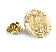 Saint Dymphna Religious Brooch  Lapel Pin   EXCLUSIVE