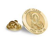 Saint Clare of Assisi Religious Brooch  Lapel Pin   EXCLUSIVE