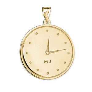 Personalized Clock Necklace with Time