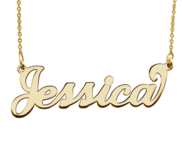 Personalized Classic Script Name Necklace with Chain Included
