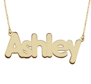 Personalized Classic Block Name Necklace with Chain Included