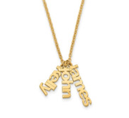Mother s Name Necklace with up to 4 Childrens Names   Chain Included