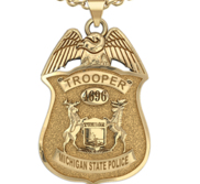 Personalized Michigan State Police Badge with Your Number