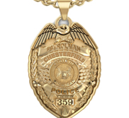 Personalized Michigan Police Badge with Your Name  Rank  Number   Department