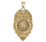 Personalized Connecticut Corrections Badge with Your Number