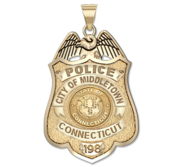 Personalized Connecticut Police Badge with Number   Department