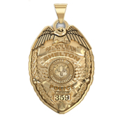 Personalized Connecticut Police Badge with Your  Number   Department
