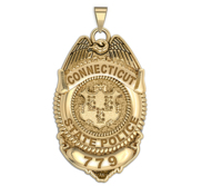 Personalized Connecticut State Police Badge with Your Number
