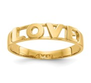 14k Yellow Gold Polished Love Band Ring