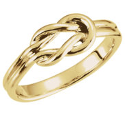 Love Knot Ring w  Engravable Band