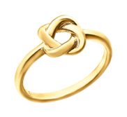 14K Yellow Gold Love Knot Ring w  Engravable Band
