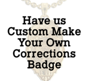 Personalized Corrections Badge Pendant w  Your City Seal  Rank  Department  Name or Number