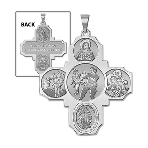 Four Way Cross   Martial Arts Religious Medal   EXCLUSIVE