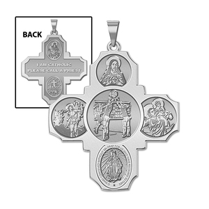 Four Way Cross   Volleyball Religious Medal   EXCLUSIVE