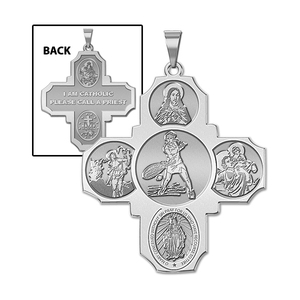 Four Way Cross   Tennis Female Religious Medal   EXCLUSIVE