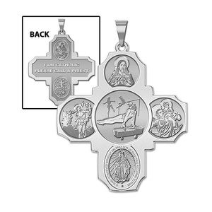 Four Way Cross   Gymnastics Religious Medal   EXCLUSIVE