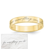 Women s Personalized Handwriting Ring