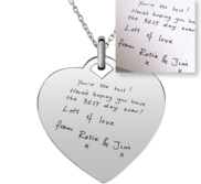 Personalized Handwriting Heart Pendant