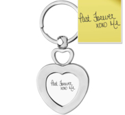 Stainless Steel Personalized Handwriting Heart Keychain