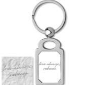 Stainless Steel Personalized Handwriting Rectangle Keychain
